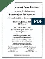 Luncheon for Joe Lieberman