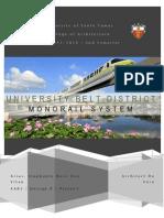 University Belt District - Monorail System