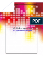 Ms-8 solved papers