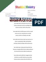El Shaddai Newsletter - November 2009