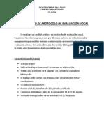 Analisis Critico de Protocolo de Evaluacion Vocal