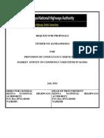 Tender No. Kenha -858- 2014 -Rfp-market Survey Consultancy