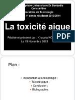 1. Toxicité Aigue Khaoula