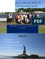 Role of Emerging Leaders in Achieving MDGs-2015-Adebayo Alonge