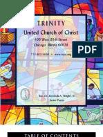 Trinity United Church of Christ Bulletin Oct 1 2006