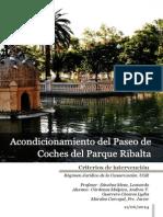 Proyecto de Acondicionamiento Del Paseo de Coches Del Parque de Ribalta