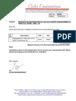Invoice for Dehydration ADB 53