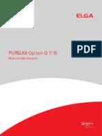 Manual Destilador Purelab Option Elga