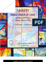 Trinity United Church of Christ Bulletin Nov 5 2006