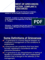 MANAGEMENT OF GRIEVANCES