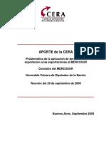 Diputados_MERCOSUR_Derecho de Exportación_Informe P-el 29 Sept 2009