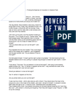 Powers of Two excerpt