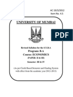 Univ of Mum - Economics Curriculum