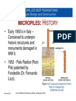 Micro Pile Design and Construction