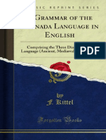 A Grammar of the Kannada Language in English 1000103714