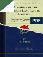 A Grammar of the Kannada Language in English 1000103714