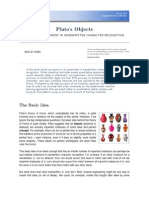 Plato's Objects  - A TELLING EXPERIMENT IN HANDWRITTEN CHARACTER RECOGNITION