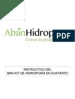 instructivo mini kit hidroponia en sustrato
