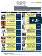 Lista de Precios de Tuberias y Piezas Especiales