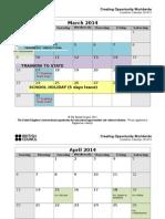 Academic Calendar Mon-Fri UPDATED 14-4-14 (1)