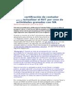Modelo Certificación de Contador Para Actualizar El RUT Por Cese de Actividades Gravadas Con IVA