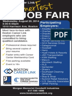 Summerfest Job Fair Aug. 20