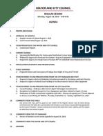 August 18 2014 Complete Agenda