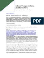 Em Carta, Irmão de Campos Defende Candidatura de Marina Silva