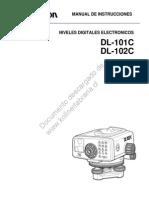 Topcon Manual DL 100 Esp