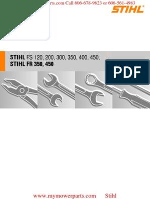 STIHL FS 350 Service manual pdf | Piston | Ignition System