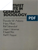 Adorno, T - Positivist Dispute in German Sociology (Heinemann, 1976)