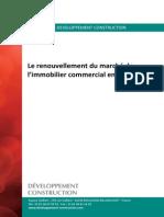 Focus Le Renouvellement Du Marche de l Immobilier Commercial en France