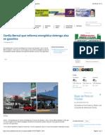 12-08-14 Confía Bernal que reforma energética detenga alza en gasolina.