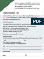 Sophomore Enrollment Form 201510