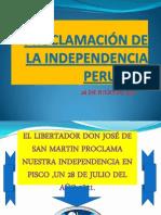 Proclamación de La Independencia Peruana