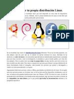 Distribucion Linux Personalizada