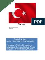 GEOG 212.Country Turkey
