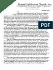 Full Gospel Lighthouse Church December 2009 Newsletter