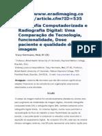 Radiografia Computadorizada e Radiografia Digital