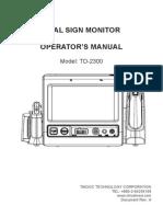 V Trust Td 2300operator's Manual