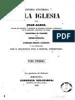 Historia Universal de La Iglesia - Tomo I - Juan Alzog