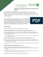 Transfers of Some Taxa to Lobatiriccardia (Aneuraceae)