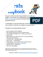 Pirate Preschool Lapbook