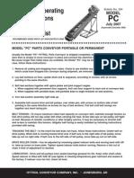 PC - Portable Parts Conveyor