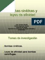 Bombas Cinéticas y Leyes de Afinidad