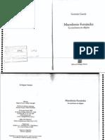 Garcia German - Macedonio Fernandez La Escritura en Objeto