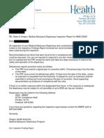 Medical Marijuana Dispensary Inspection Report for 1st Choice Cannabis Farmacy OMMP