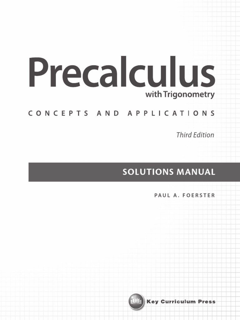 paul a foerster precalculus with trigonometry concepts and applications |  Exponentiation | Trigonometric Functions