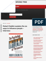 Robert Cialdini Explains the Six Ways to Influence People