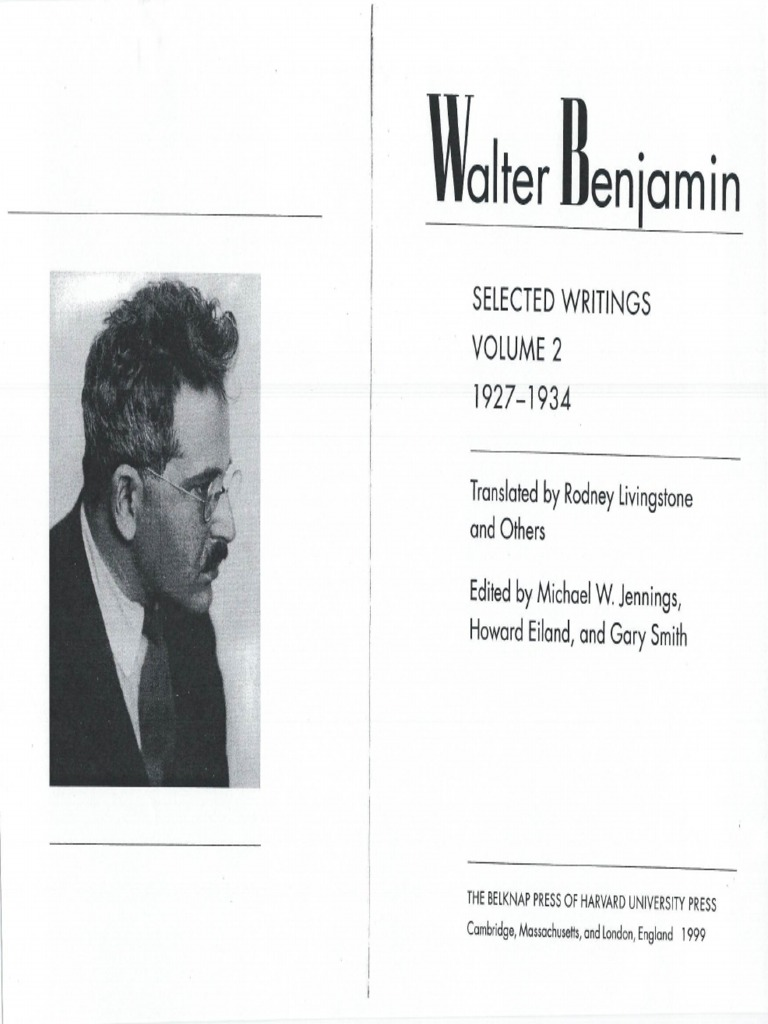 walter benjamin experience and poverty